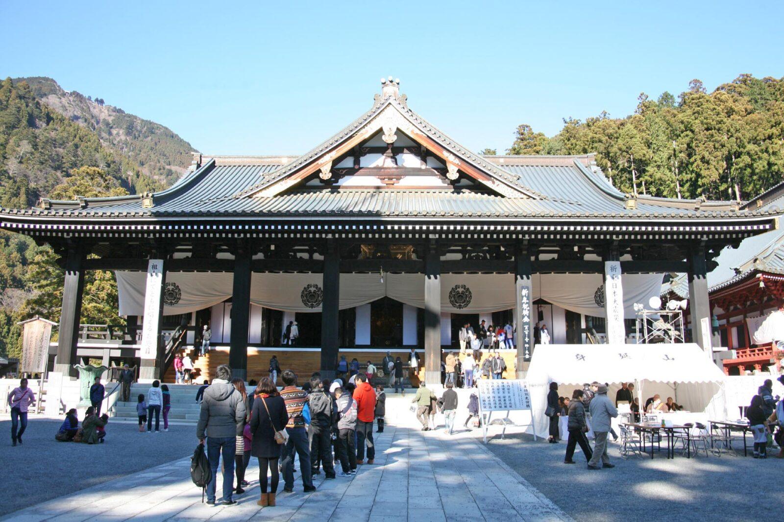 正月の身延山久遠寺