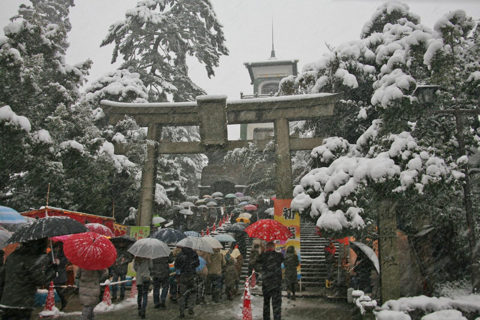 正月の尾山神社