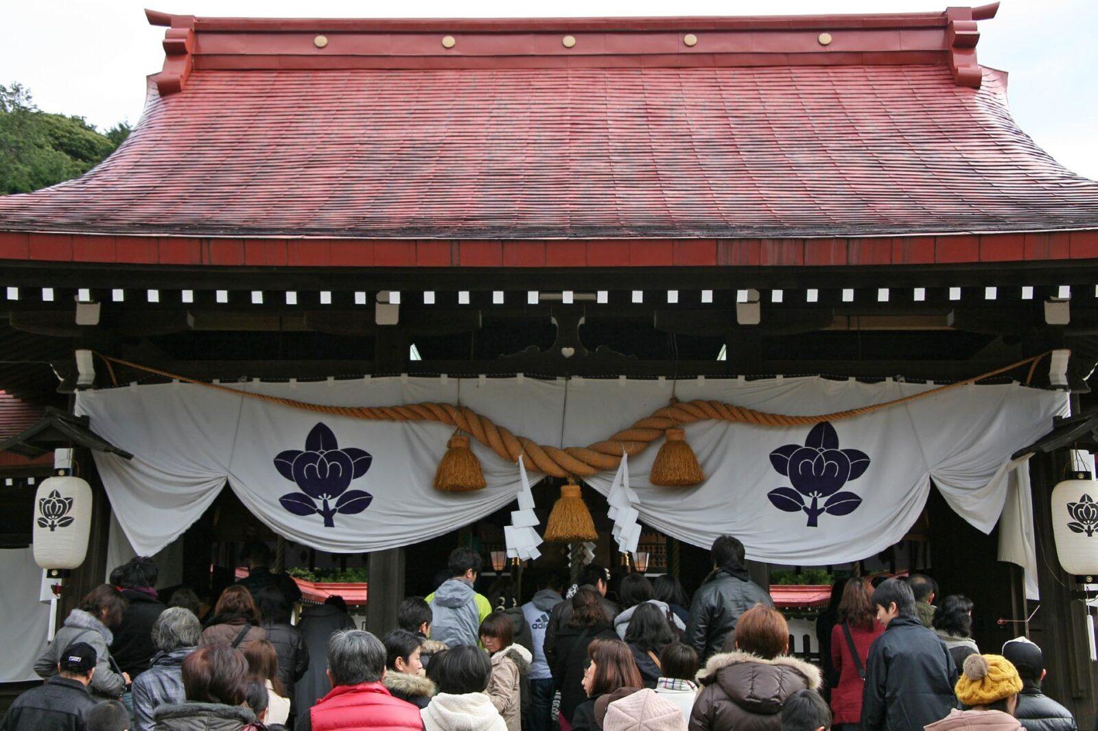 正月の橘神社