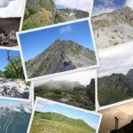 日本の夏山の風景