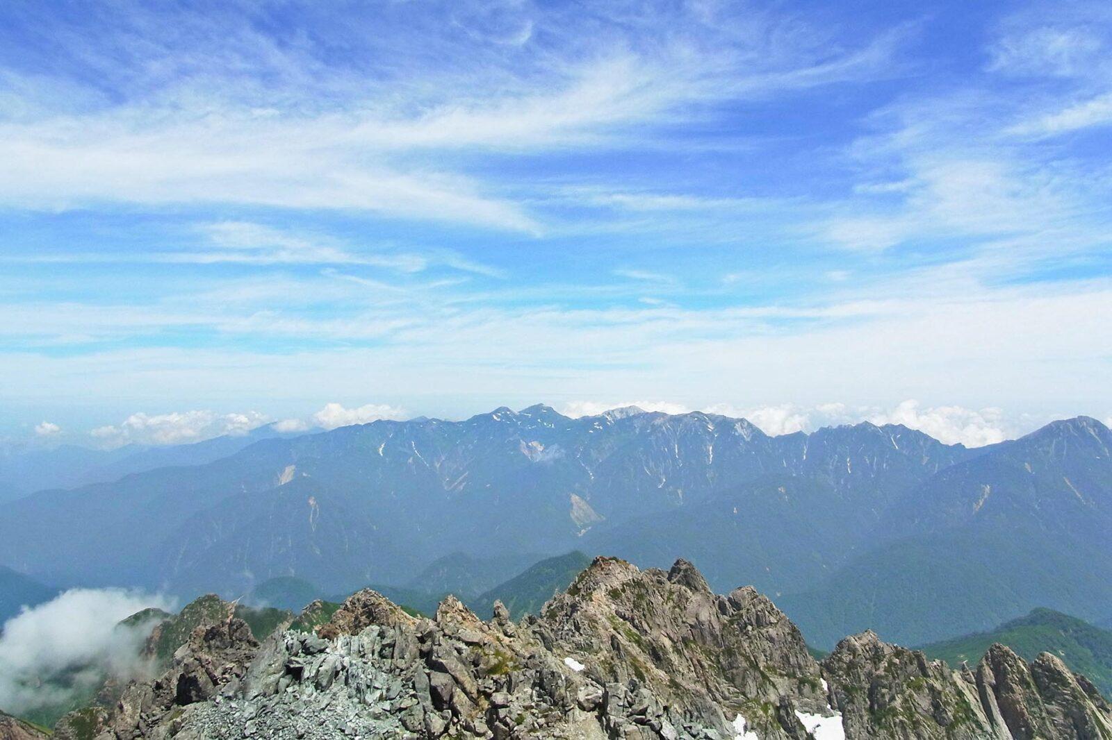 剱岳から見る風景